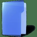 folder, blue, open